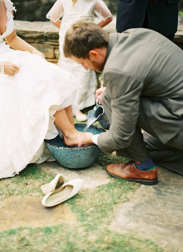 Love This Biblical Act Of The Groom Washing His Brides Feet So Selfless