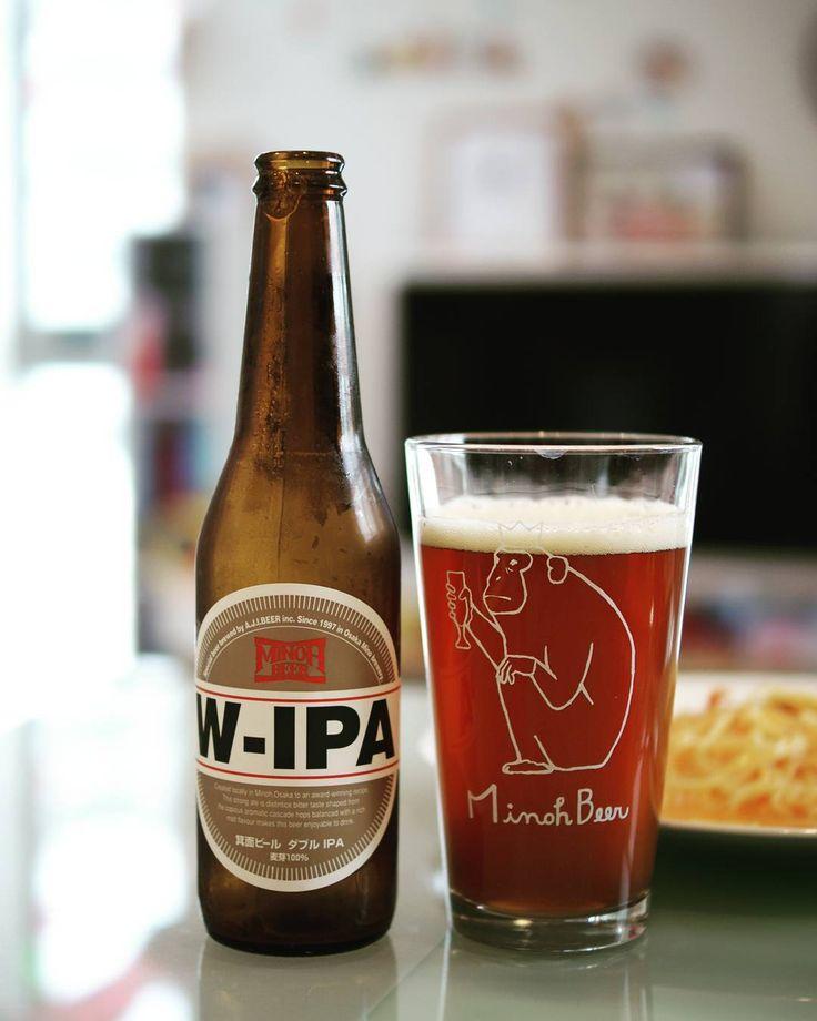 とりあえずお祝いです 大好きなタラバパスタと  めっさモルティ  #箕面ビール#箕面#minohbeer #minoh #箕面ビールあります#箕面ビール宣伝部 #西の箕面ビール東の志賀高原ビール #箕面ビールwipa #おさるグラス#クラフトビール#craftbeer #beer#タラバパスタ#wipa by hiro07090408