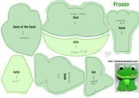 DIY Cute Frog Stuffed Animal Toy - FREE Sewing Pattern