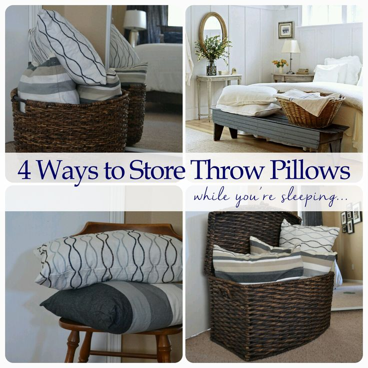 4 Ways to Store Throw Pillows While You're Sleeping | Best ...
