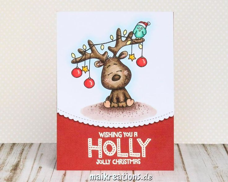 Stamping Ideas For Card Making Part - 20: Rudolph Needs To Help His Happy Fellow! Card By Maike At MaiKreations # Cardmaking #