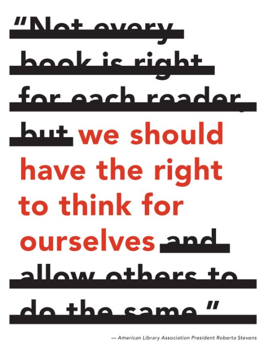 We should have the right to think for ourselves #BannedBooksWeek: