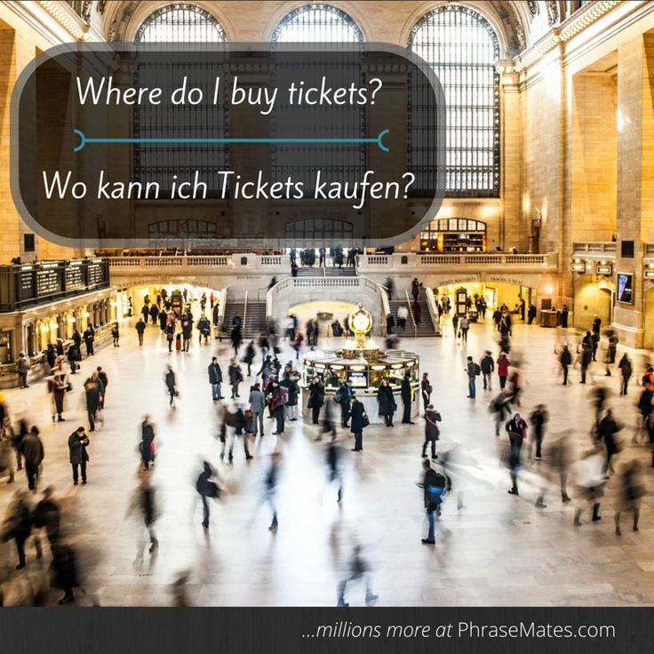Are you taking a train soon? Get your tickets at the train station with this phrase.