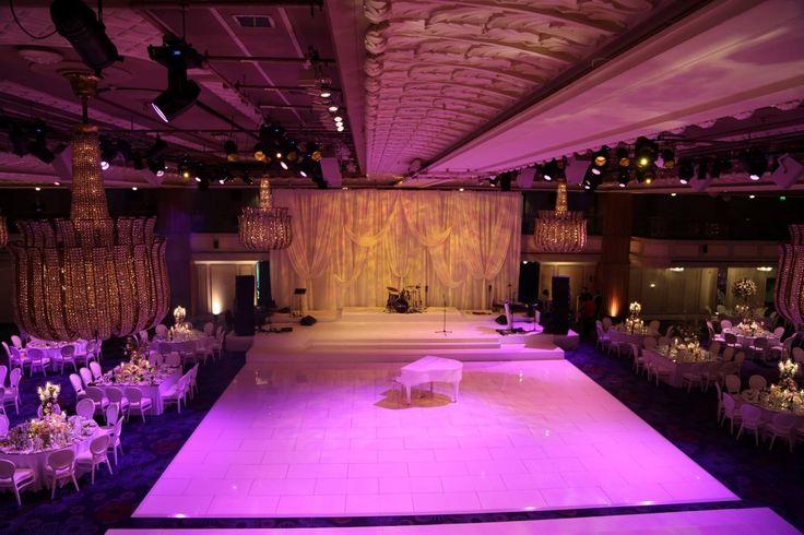 All white gloss dance floor