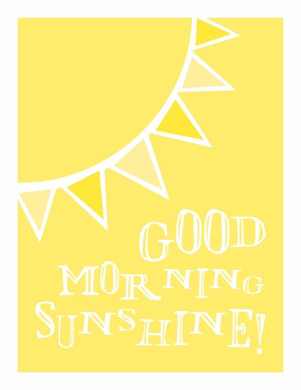 Good Morning Sunshine - in happy sunshine yellow. $20.00, via Etsy.