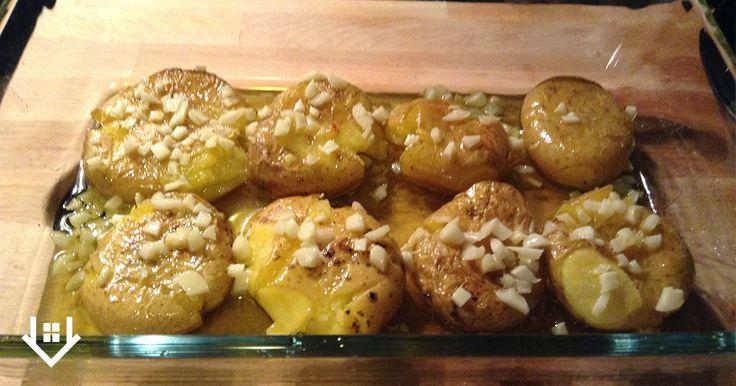Batatas a murro (clica no pin para veres como preparar esta receita no microondas)