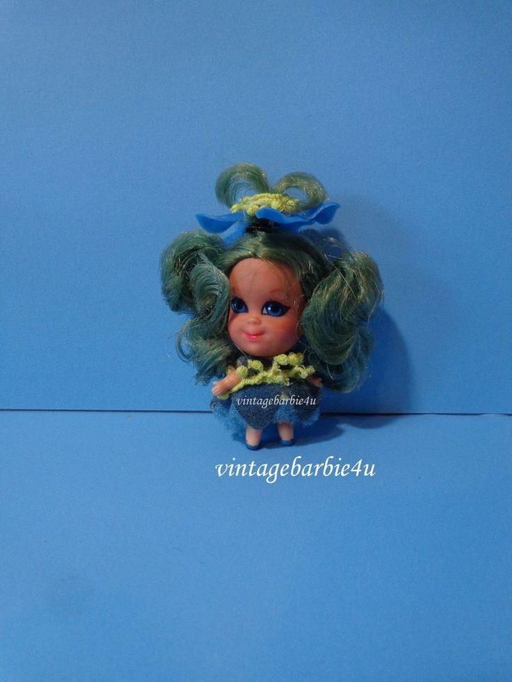 Little Kiddles Kolognes Doll Bluebell Blue Hair #3709 VHTF Vintage 1960s Mattel  #Mattel #DollswithClothingAccessories