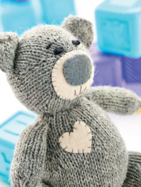 Oliver the Teddy - free knitting pattern download over on the LK blog!