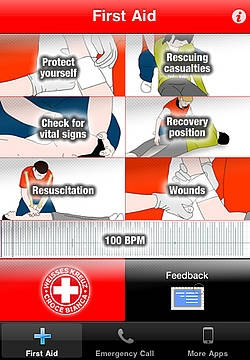 First Aid App.   Very practical.
