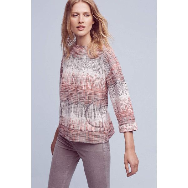 Anthropologie Etched Sunset Sweatshirt featuring polyvore, women's fashion,  clothing, tops, hoodies,