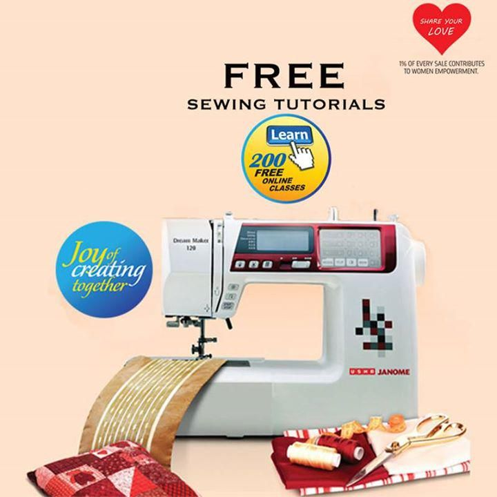 Download Free Sewing Books from Garment Design to Creative Home Decor at http://www.usha.com/sewing-machines#tutorials-view