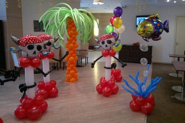 66 best images about pirates on pinterest anchor for Anchor balloon decoration