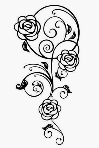 roses and vine reminds a bit of charles rennie mackintosh tattoos pinterest tattoo. Black Bedroom Furniture Sets. Home Design Ideas