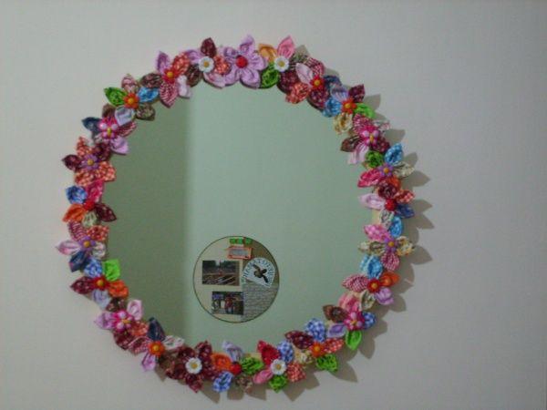 Moldura Para Espelho De Fuxico Fuxico Pinterest Ems
