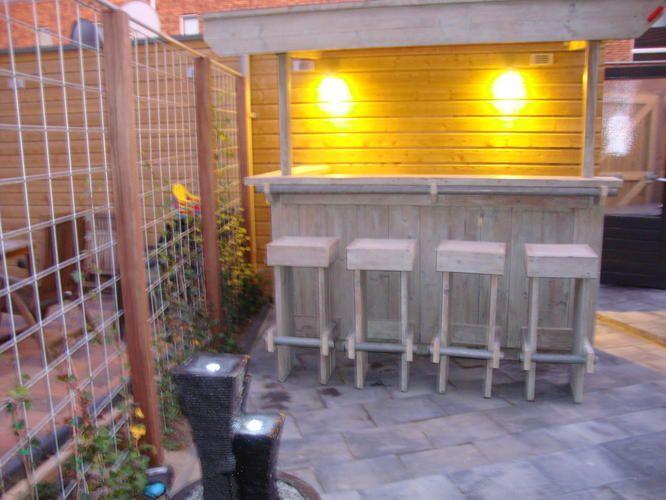 25 beste idee n over tuin bar op pinterest palet tuin patio bar en buitenbarren - Hoe een overdekt terras te bouwen ...