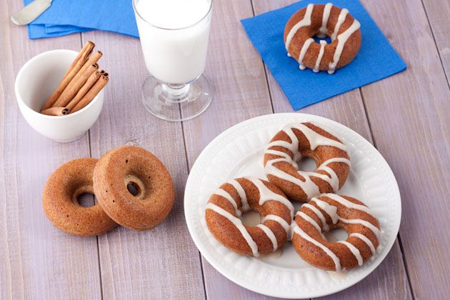 Chai Spice Doughnuts with Almond Frosting