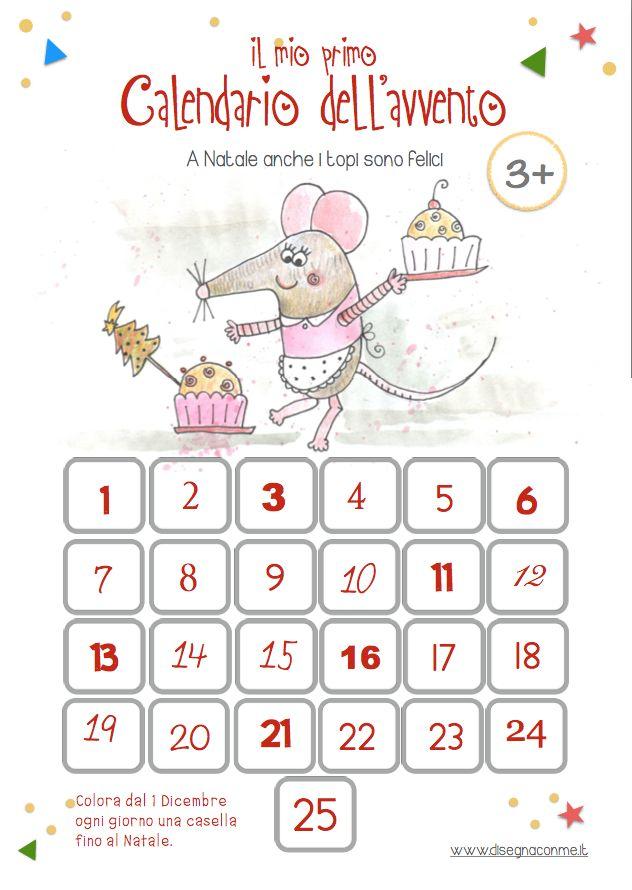 care mamme, ecco il mio #calendario dell'#avvento 2015! Le grandi caselle con i bordi spessi da colorare lo rendono ideale per i bimbi più piccoli. E' #stampabile, gratuito e vi renderà felici! #disegnaconme #creatività #natale #ideepernatale  Stampabile gratuitamente dalla mia pagina Facebook.