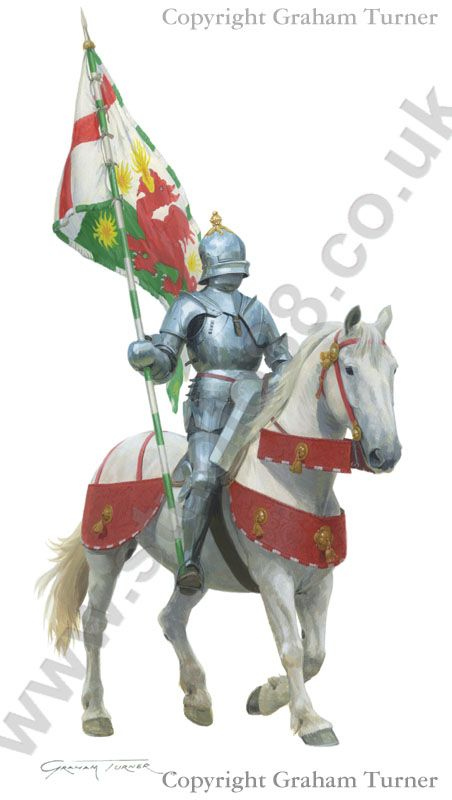Henry Tudor's Standard bearer at the Battle of Bosworth..Henry Tudor's standard bearer at the battle of Bosworth, Sir William Brandon was killed by King Richard III in his final charge.