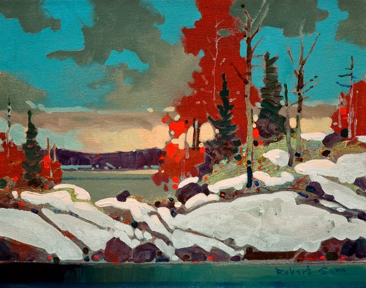 """From Sultana Island, Lake of the Woods"" by Canandian artist Robert Genn"