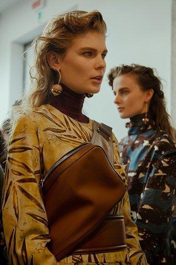 Marni AW15 Dazed backstage Womenswear leather shoulder bag