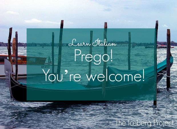 how to say you re welcome in italian