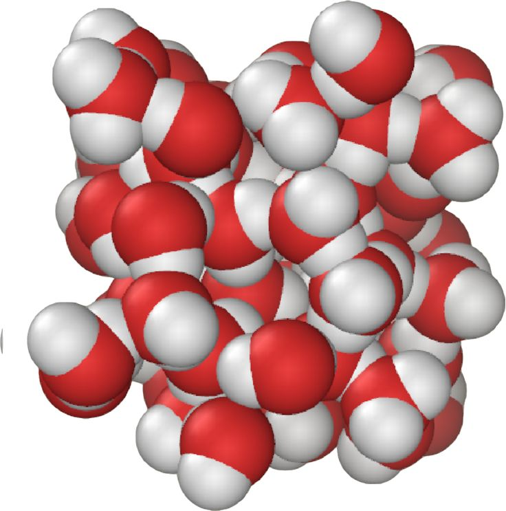 Liquid water molecules bond