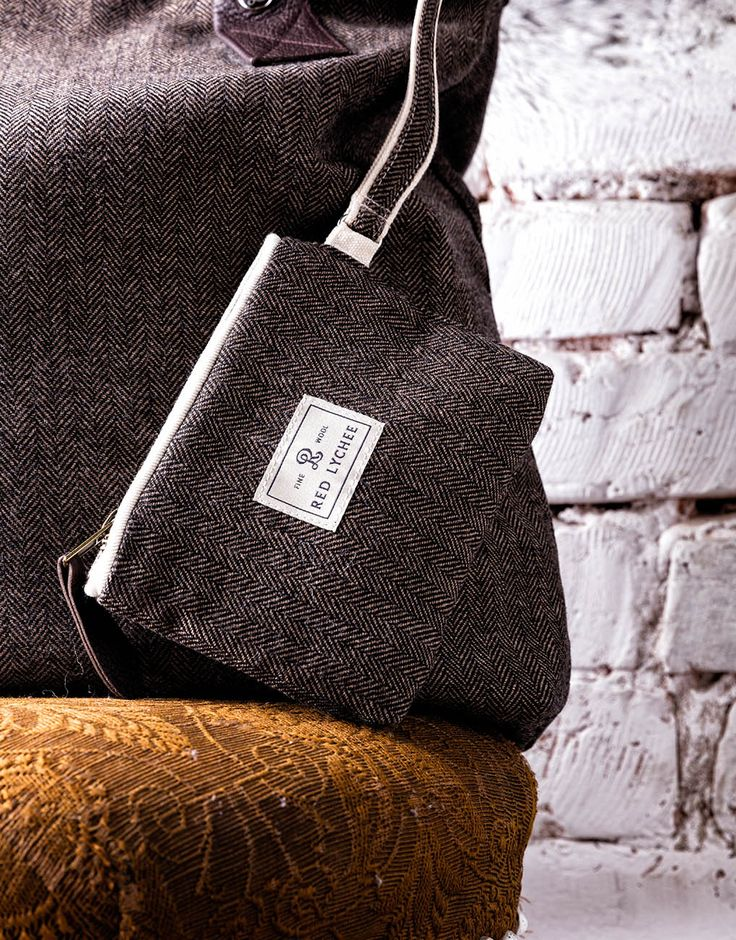 Booth Wool Wallet - this elegant wallet/pouch is perfectly sized to hold your phone, credit cards, lipstick, and other small essentials.