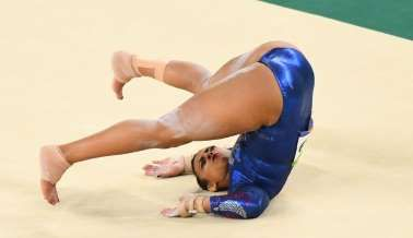 17-year-old British gymnast Ellie Downie courageous, but should she have been allowed to return?    -  August 8, 2016  -   Great Britain 17-year-old gymnast Ellie Downie competing in the floor event (Photo: USA TODAY Sports)
