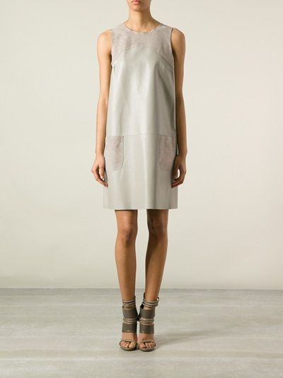 MAX & MOI - leather pocketed shift dress  #maxmoi #maxandmoi #leatherdresses #dresses #jofré