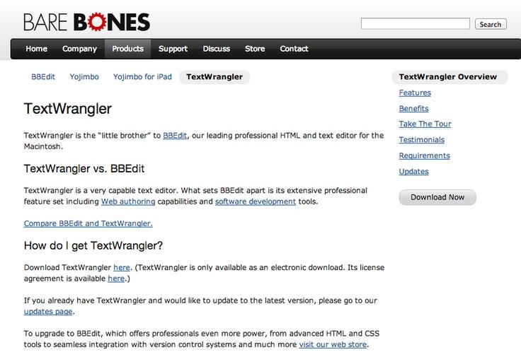 Textwrangler HttpWwwBarebonesComProductsTextwrangler