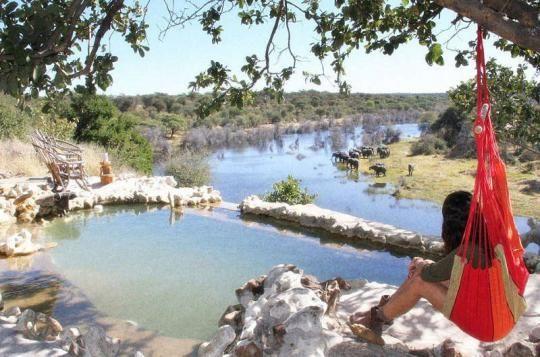 Relaxing at Meno a Kwena Camp  (Makgadikgadi Pans, Botswana). Looks like a place you wanna go? Just let us know: info@gondwanatoursandsafaris.com