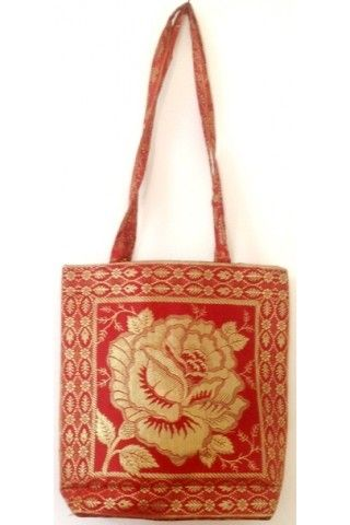 Ethnic Bag - Red Floral Printed