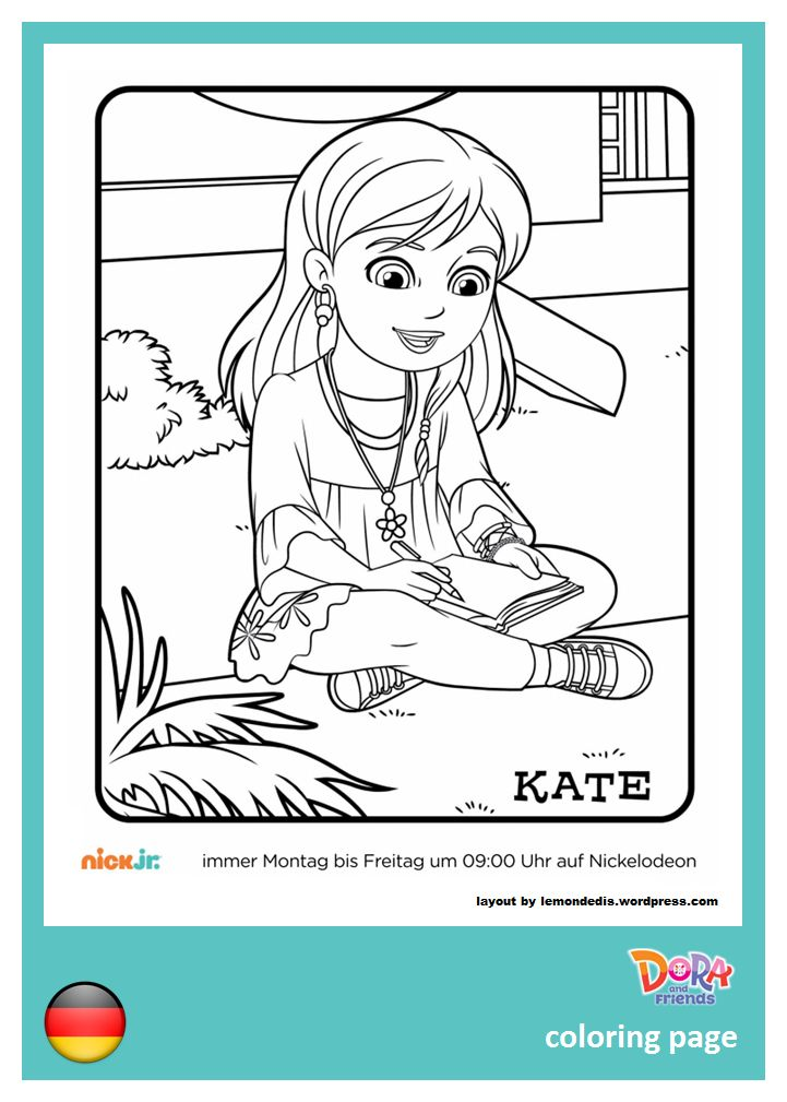 Colora Kate Disegna Con Dora Friends Into The City Su Nick Jr