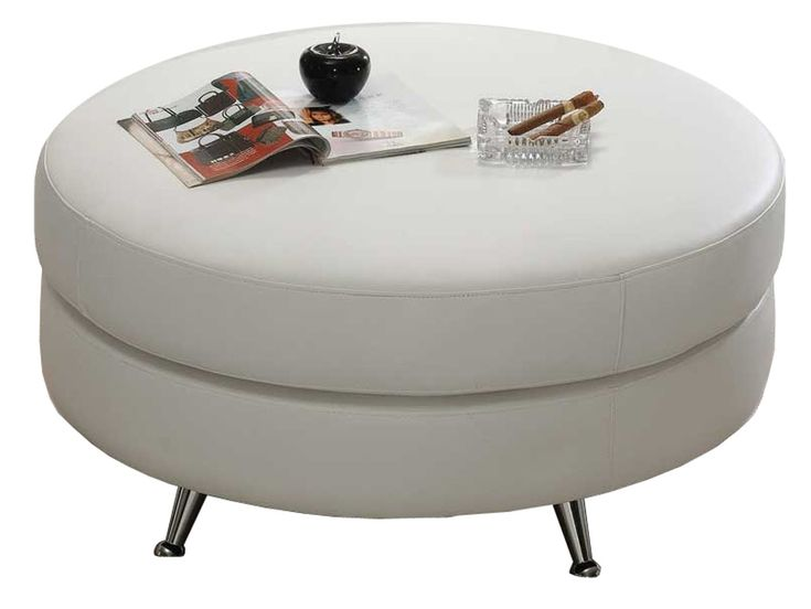 Round Leather Ottoman | $499 - 42 Best Images About Ottomans On Pinterest Furniture, Ottomans