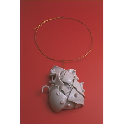 After 21 cups of coffee necklace.  Ted Noten