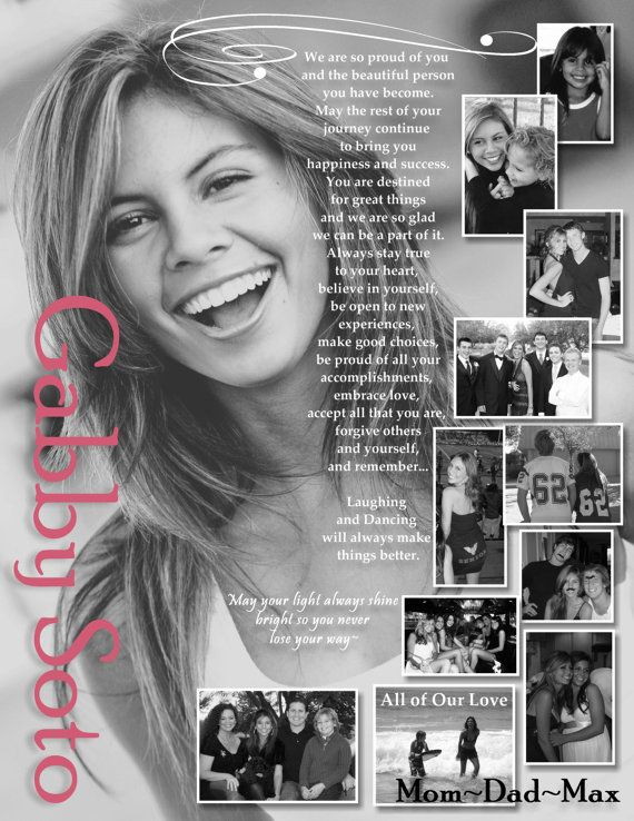 Custom & Personalized Photo Senior/ School Yearbook~Ad ~Dedication Page