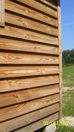 Clapboard siding could become a fence