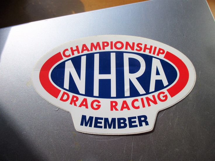 Vintage original nhra championship drag racing member decal sticker