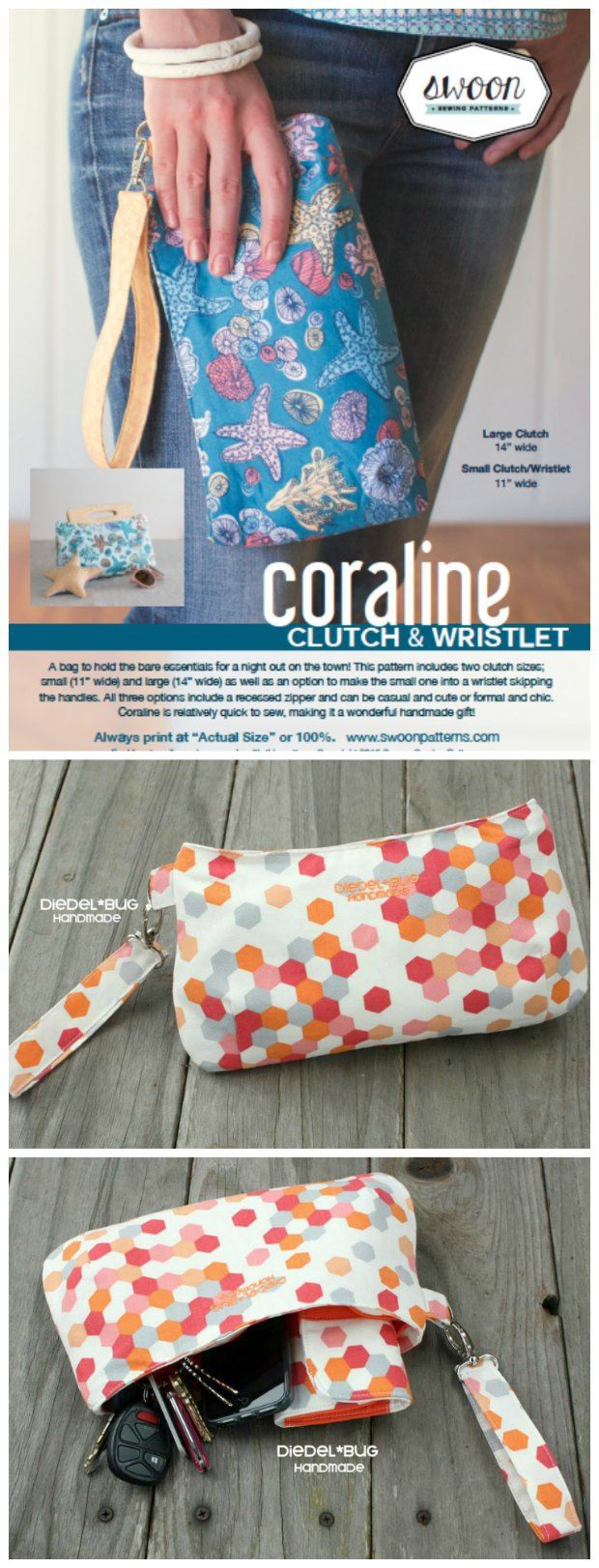 Full video tutorial on how to sew the Coraline Clutch Bag. This has a slightly curved inset top zipper and I thought it was going to be hard. Not with this video - it's really easy!