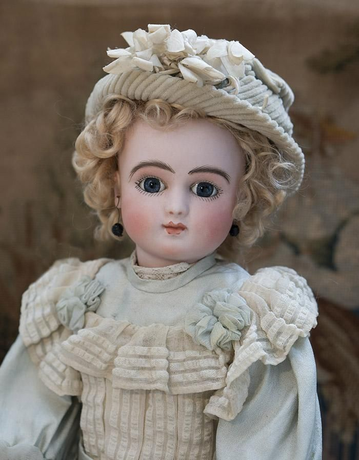 """16"""" (41 cm) Antique All Original Rare French Bisque Bebe Doll Series from respectfulbear on Ruby Lane"""