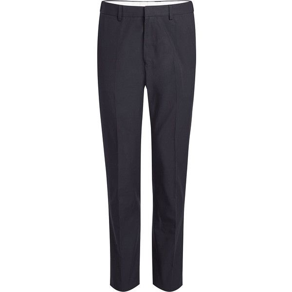 Stella McCartney Cotton Pants ($290) ❤ liked on Polyvore featuring men's fashion, men's clothing, men's pants, men's casual pants, blue, mens cotton pants, mens high waisted pants, mens tapered pants, men's casual cotton pants and mens blue pants