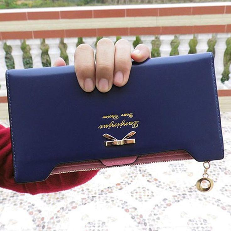 Wallet Female FashionWallets PU Thin Card Holders
