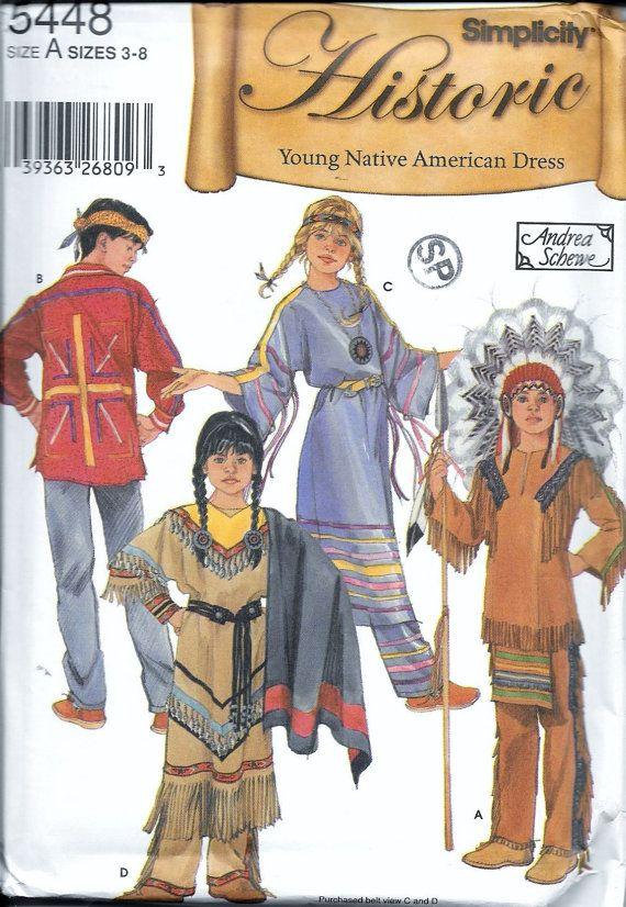 Histórico joven nativo americano de por vintagepatternstore en Etsy