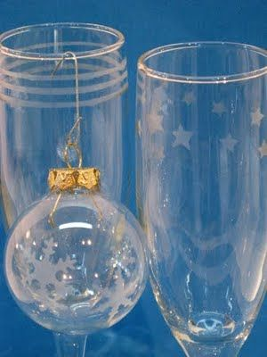 Glass Etching - Wine glasses and ORNAMENTS!