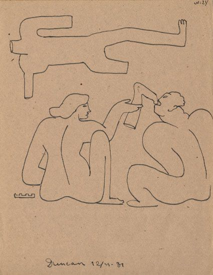 Sergei Eisenstein, 1931. Drawing from the series 'Death of Duncan'. © Russian State Archive of Literature and Art, Moscow