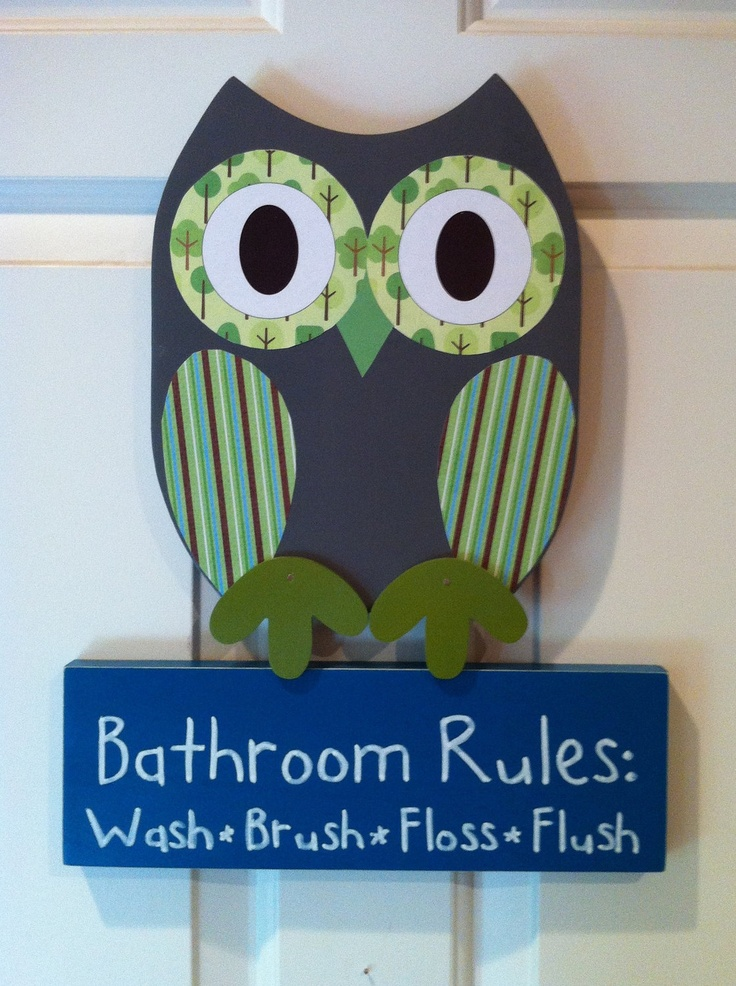 35 best images about joseph 39 s bathroom on pinterest kids clocks owl bathroom and decor - Owl themed bathroom decor ...