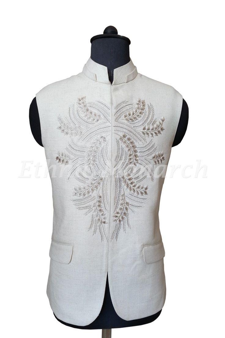 Royal White Nehru Jacket