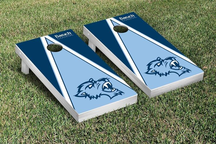 Cornhole Game Set - Baruch College CUNY Bearcats Triangle Version - 26065