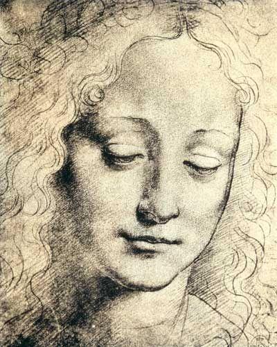 Léonard de Vinci - Tête d'une jeune femme
