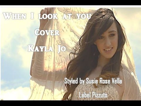 When I look at You - Miley Cyrus- Cover Kayla Jo  ( 14 yrs old )